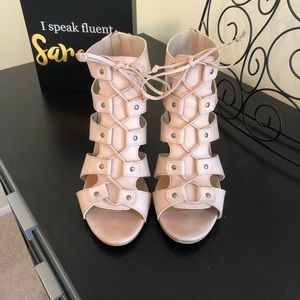 Rampage Pink Nude Open Toed Bootie!